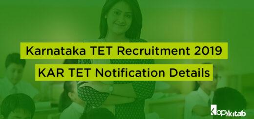 Karnataka TET Recruitment 2019