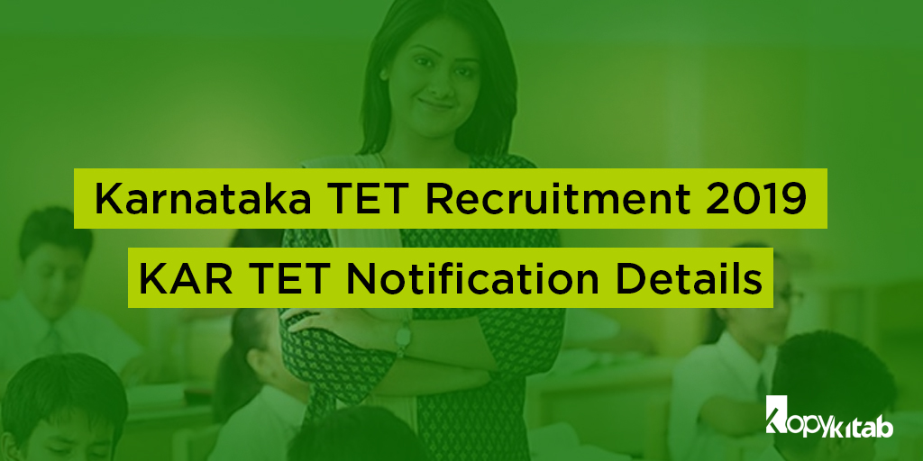 Karnataka TET Recruitment 2019