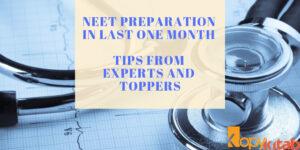 NEET Preparation in Last One Month