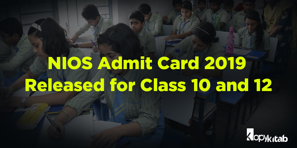 NIOS Admit Card 2019