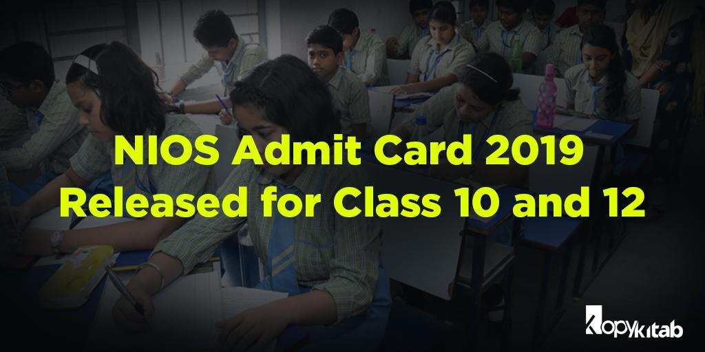 NIOS Admit Card 2019