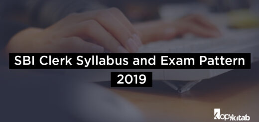 SBI Clerk Syllabus and Exam Pattern 2019
