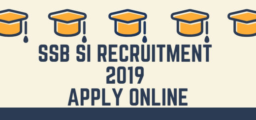 SSB SI Recruitment 2019 Apply Online