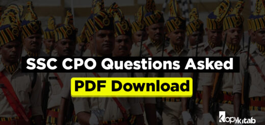 SSC CPO Questions Asked PDF Download