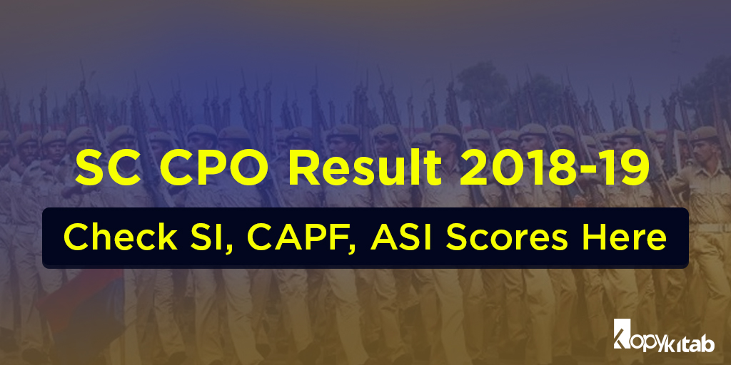 SSC CPO Result 2018-19