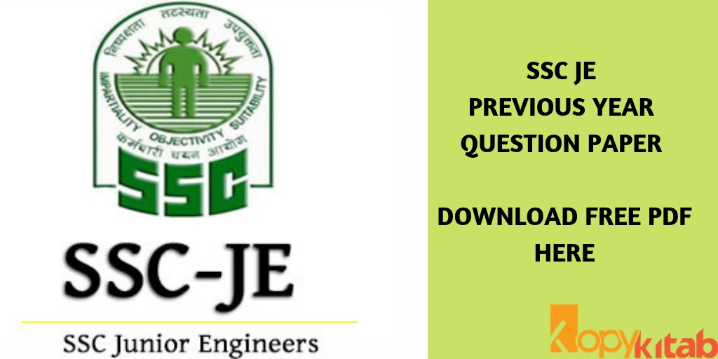 SSC JE Previous Year Question Paper
