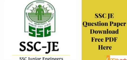 SSC JE Question Paper