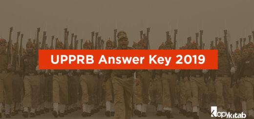 UPPRB Answer Key 2019