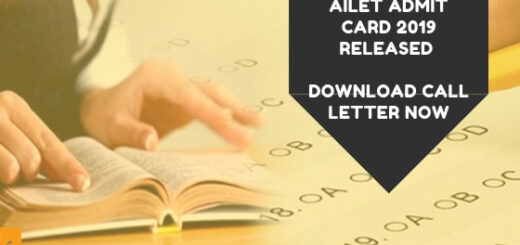 AILET Admit Card 2019 Released Download Call Letter Now
