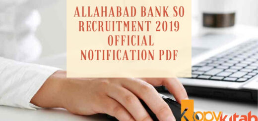 Allahabad Bank SO Recruitment 2019