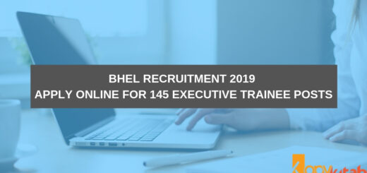BHEL Recruitment 2019 Apply Online for 145 Executive Trainee Posts