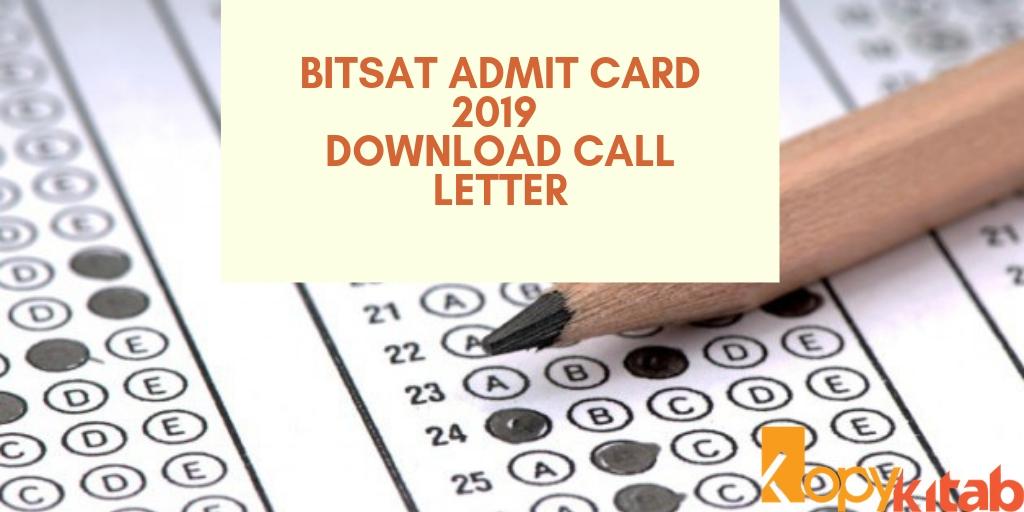 BITSAT ADMIT CARD 2019
