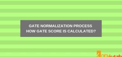 GATE Normalization Process How GATE Score is Calculated_