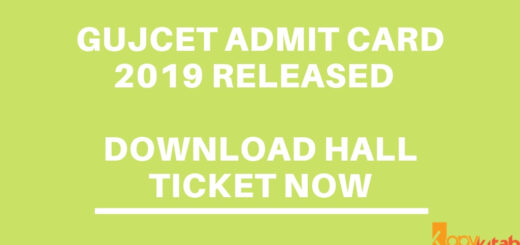 GUJCET ADMIT CARD 2019 RELEASED