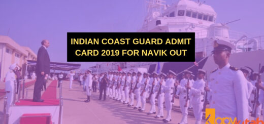 Indian Coast Guard Admit Card 2019 for Navik Out
