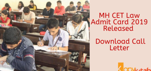 MH CET Law Admit Card 2019 Released