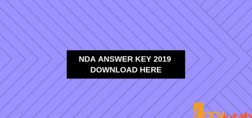 NDA Answer Key 2019 Download Here