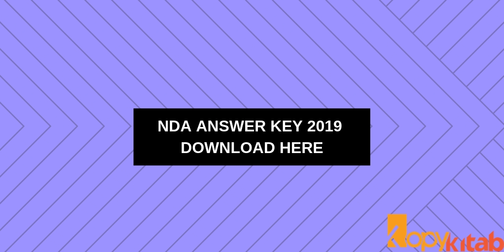 NDA Answer Key 2019 Download Here