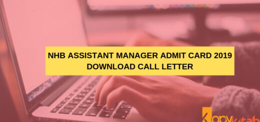 NHB Assistant Manager Admit Card 2019 Download Call Letter