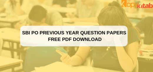 SBI PO Previous Year Question Papers Free PDF Download