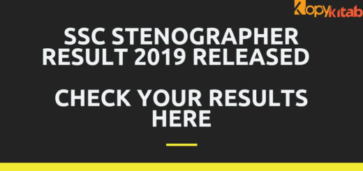 SSC Stenographer Result 2019 Released Check Your Results Here
