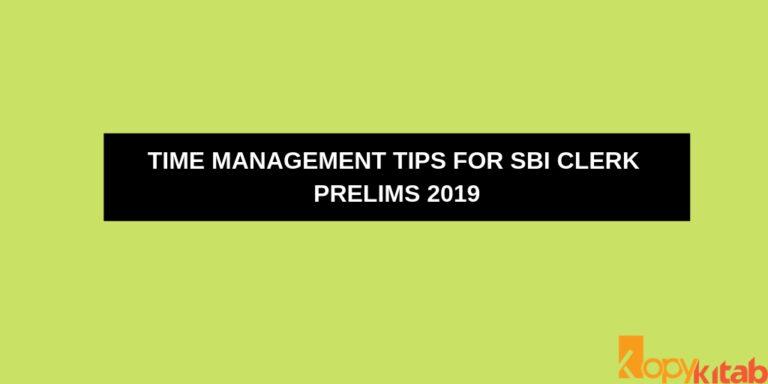 Time Management tips for SBI Clerk Prelims 2019