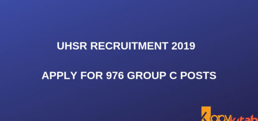 UHSR Recruitment 2019 _ Apply for 976 Group C posts