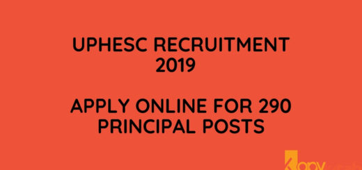UPHESC Recruitment 2019 Apply Online for 290 Principal Posts