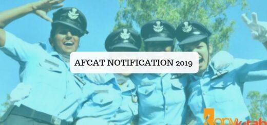 AFCAT Notification 2019