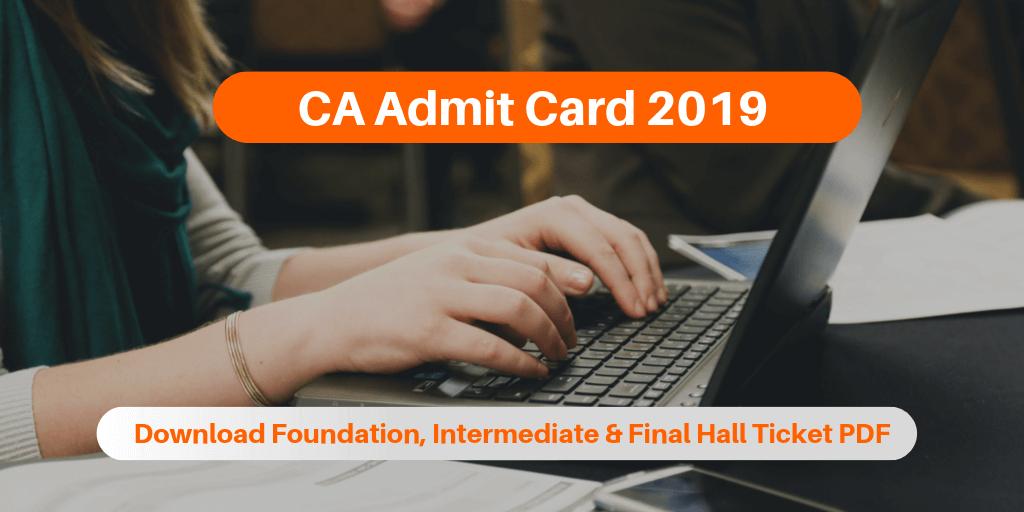 CA Admit Card 2019