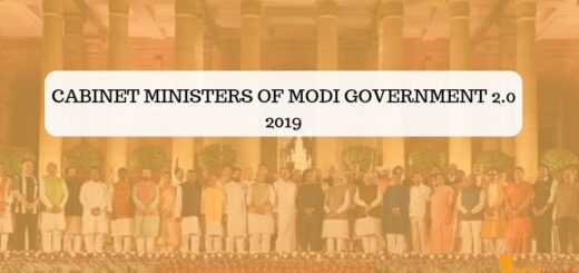 Cabinet Ministers of Modi Government 2.0 2019