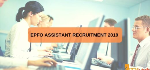 EPFO Assistant Recruitment 2019