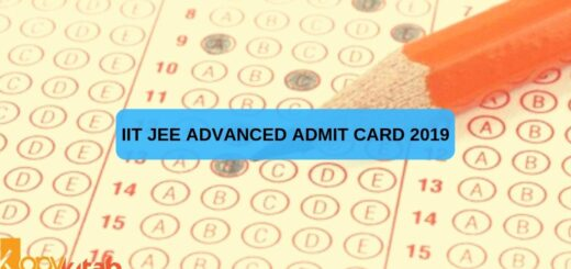 IIT JEE Advanced Admit Card 2019
