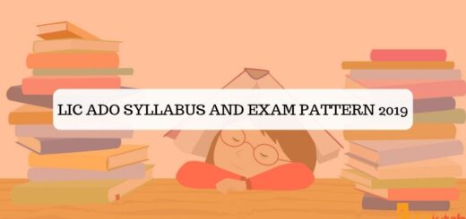 LIC ADO Syllabus and Exam Pattern 2019
