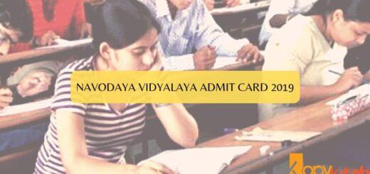 Navodaya Vidyalaya Admit Card 2019