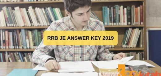 RRB JE Answer KeY 2019