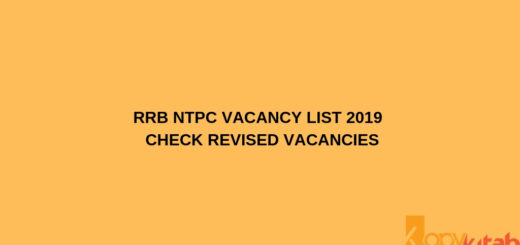 RRB NTPC Vacancy List 2019 Check Revised Vacancies
