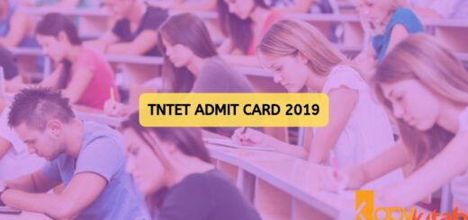 TNTET Admit Card 2019