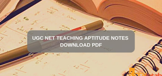 UGC NET Teaching Aptitude Notes Download PDF