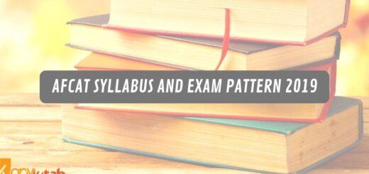 AFCAT syllabus and exam pattern 2019
