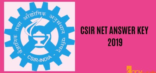 CSIR NET Answer Key 2019