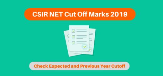 CSIR NET Cut Off Marks 2019