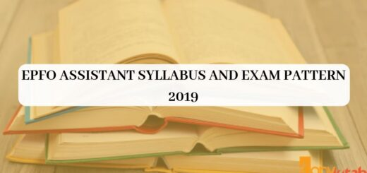 EPFO Assistant Syllabus and Exam Pattern 2019