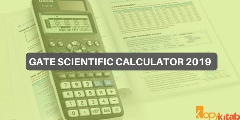 GATE Scientific Calculator 2019