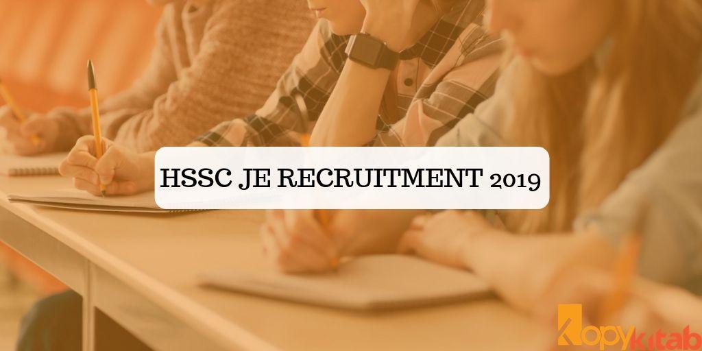 HSSC JE Recruitment 2019