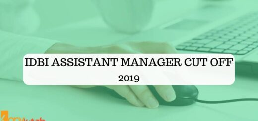 IDBI Assistant Manager Cut Off 2019