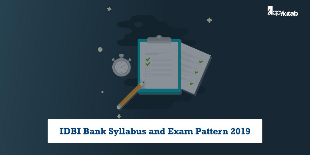 IDBI Bank Syllabus and exam Pattern