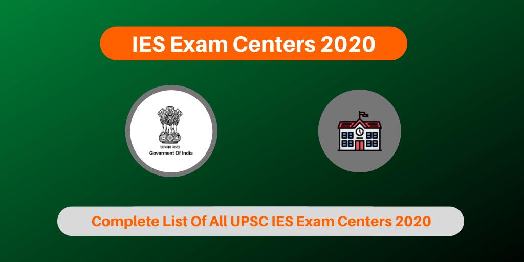 IES Exam Centers 2020