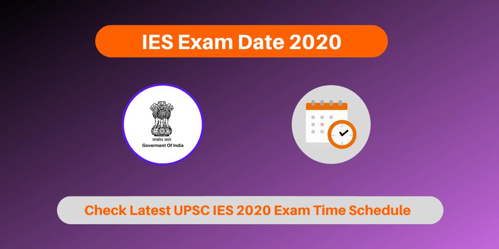 IES Exam Dates 2020