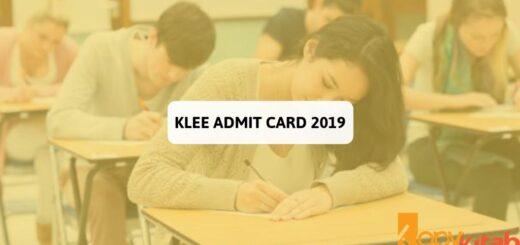 KLEE Admit Card 2019